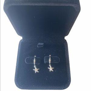🆕S925 Sterling silver starfish hoop earrings